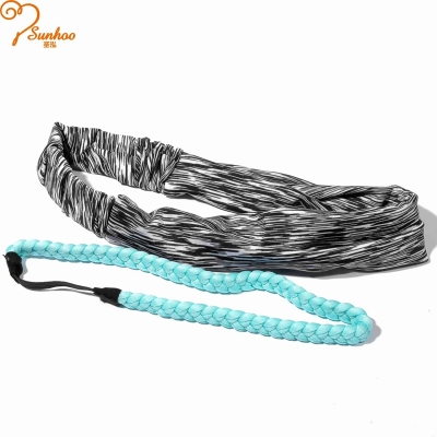 Black and white stripe hair bands(2pcs) H-0025